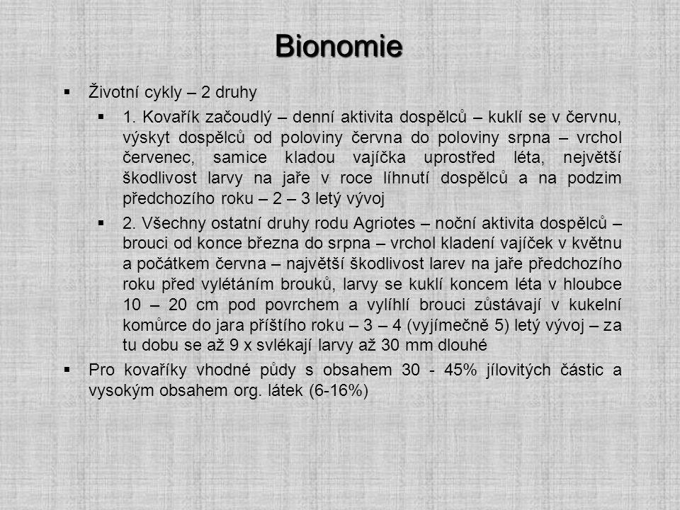 Bionomie Životní cykly – 2 druhy