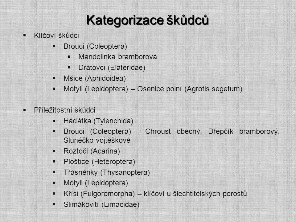 Kategorizace škůdců Klíčoví škůdci Brouci (Coleoptera)