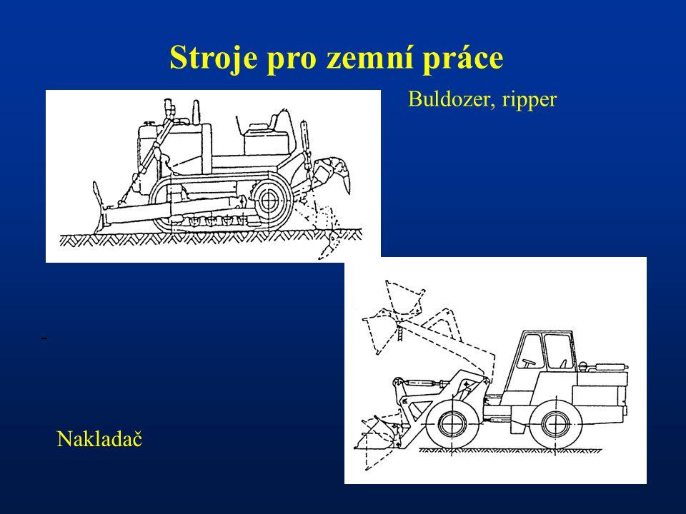 Stroje pro zemní práce Buldozer, ripper - Nakladač
