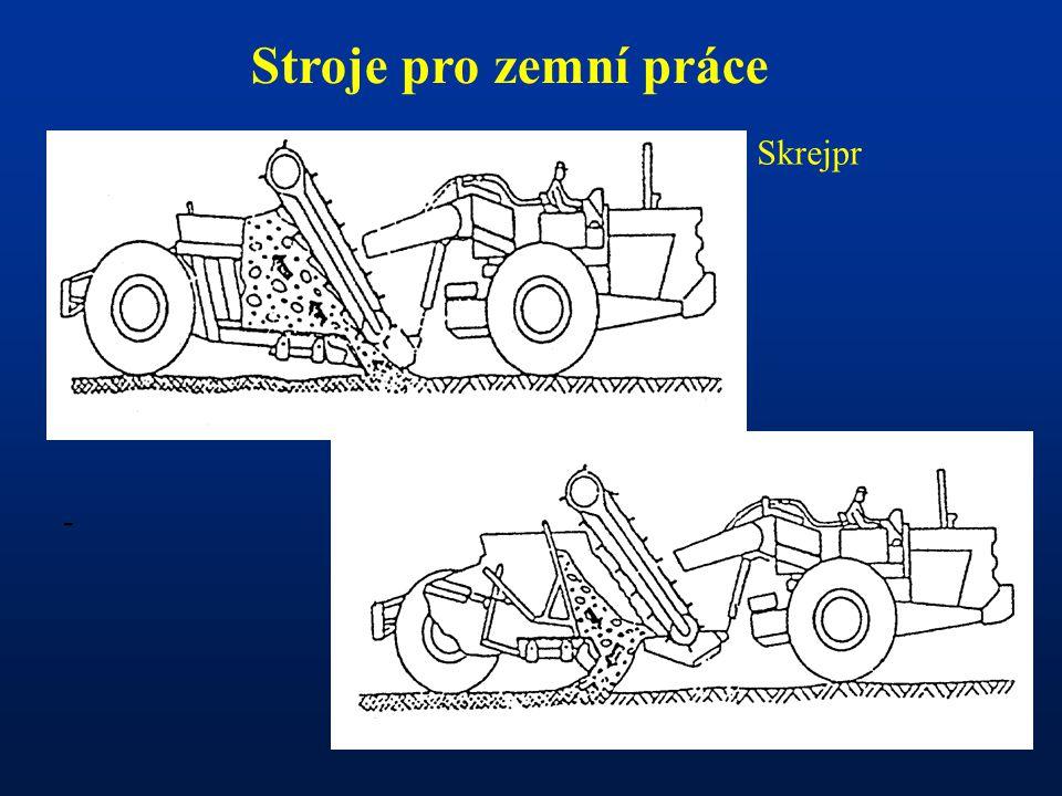 Stroje pro zemní práce Skrejpr -