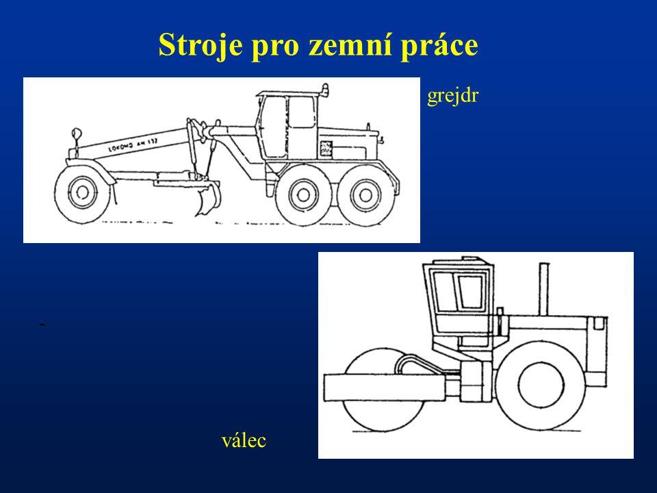 Stroje pro zemní práce grejdr - válec