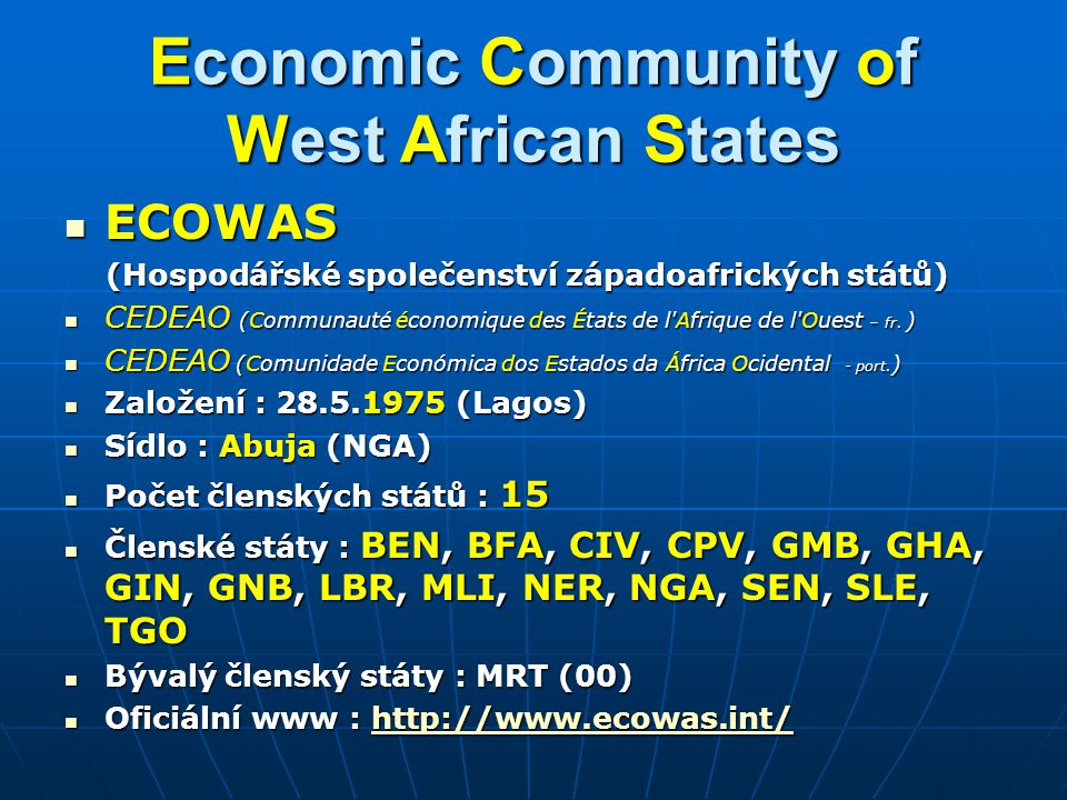 Economic Community of West African States