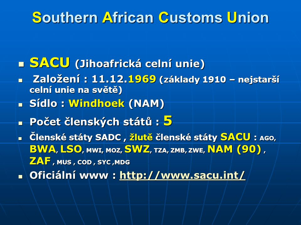 Southern African Customs Union