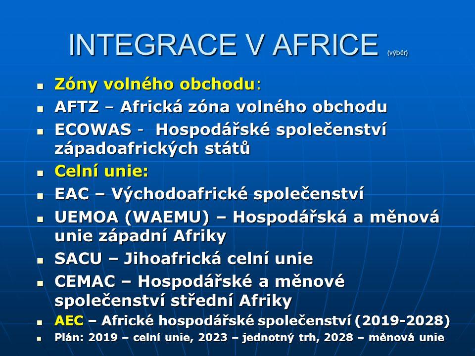 INTEGRACE V AFRICE (výběr)