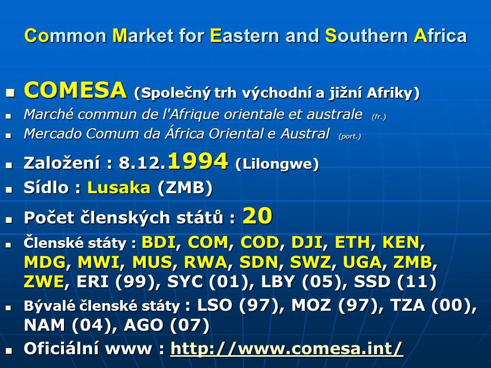 Common Market for Eastern and Southern Africa