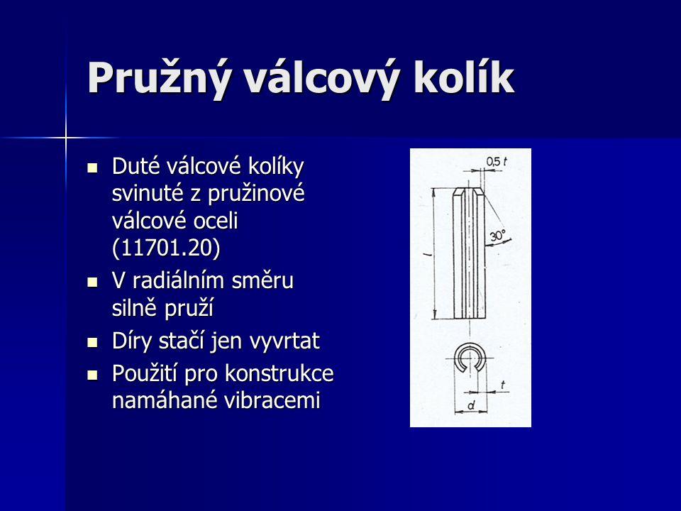 Pružný válcový kolík Duté válcové kolíky svinuté z pružinové válcové oceli (11701.20) V radiálním směru silně pruží.