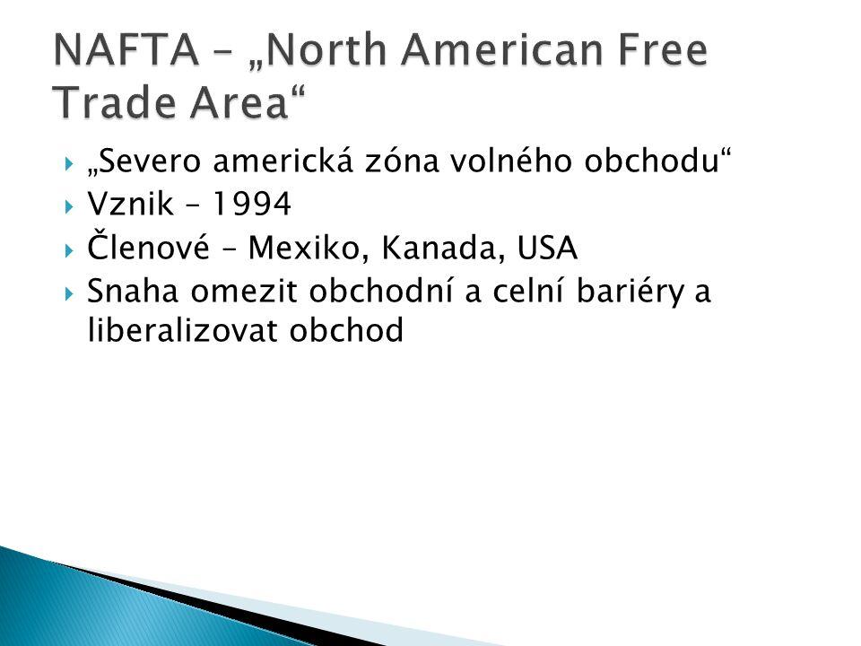 "NAFTA – ""North American Free Trade Area"