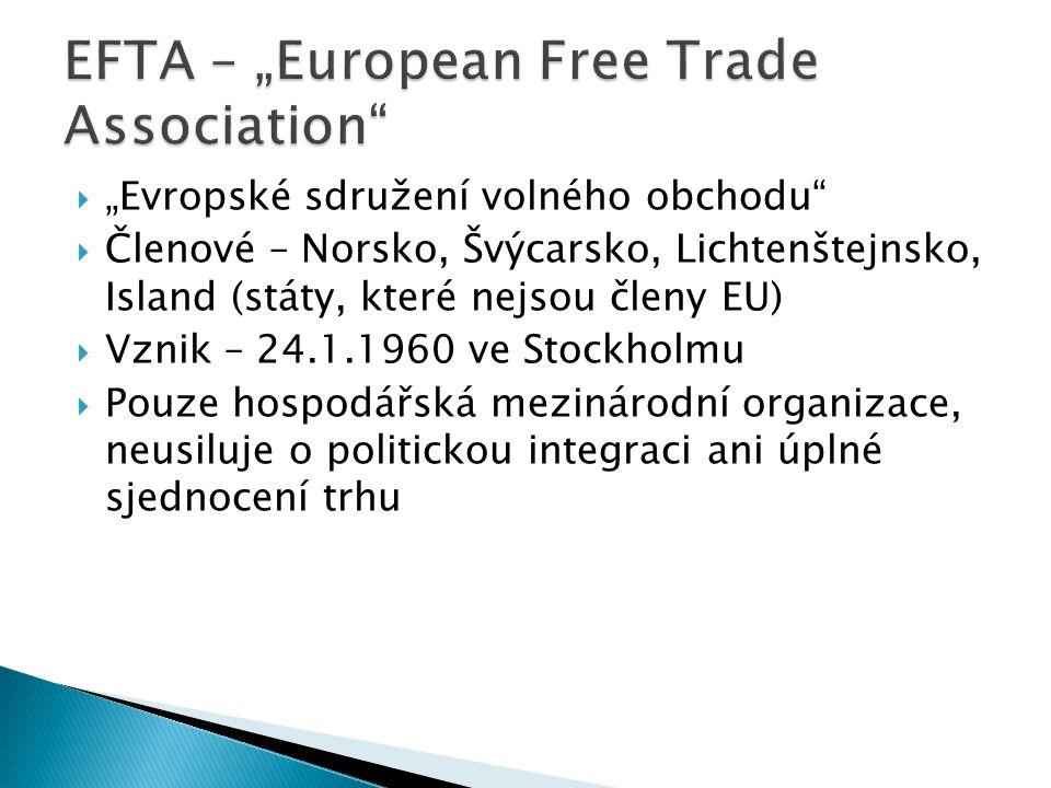 "EFTA – ""European Free Trade Association"