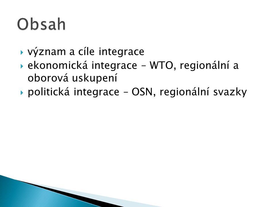 Obsah význam a cíle integrace