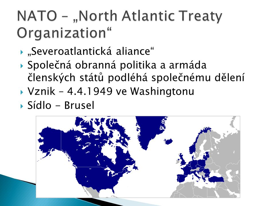 "NATO – ""North Atlantic Treaty Organization"