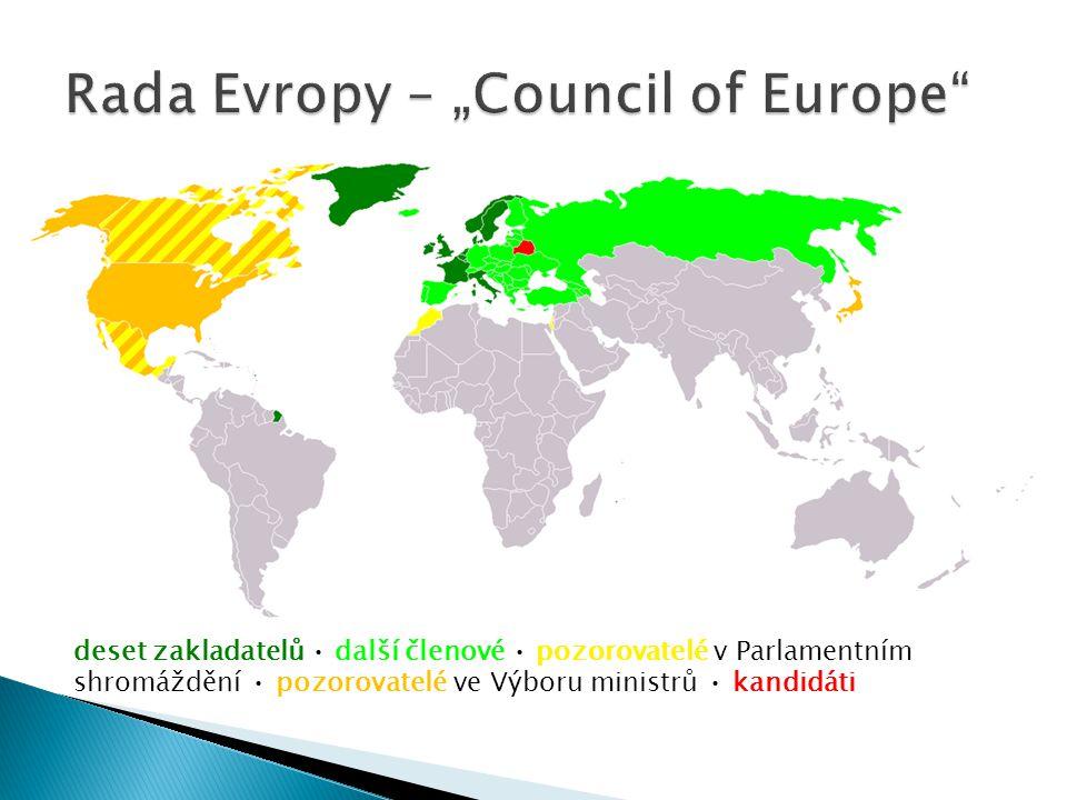 """Rada Evropy – """"Council of Europe"""