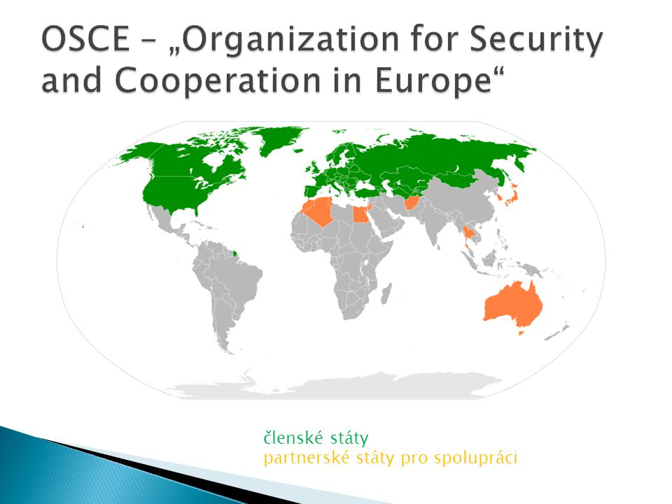 "OSCE – ""Organization for Security and Cooperation in Europe"