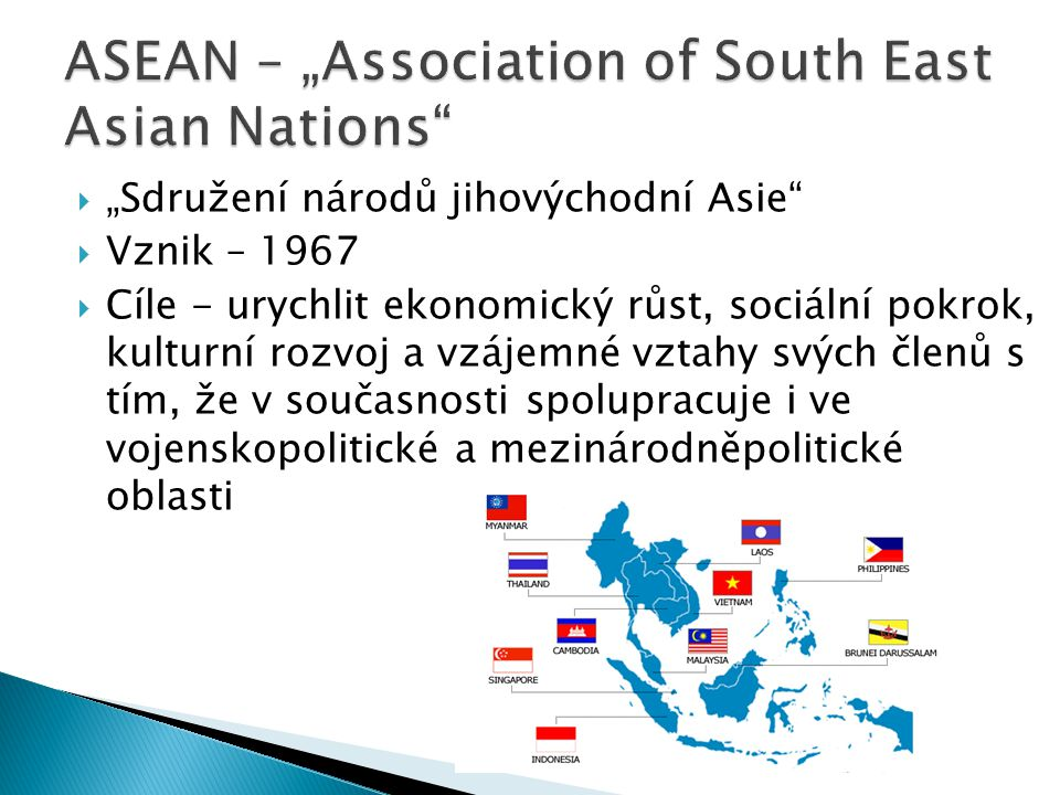 """ASEAN – """"Association of South East Asian Nations"""