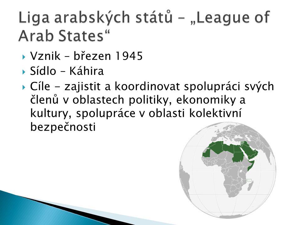"Liga arabských států – ""League of Arab States"