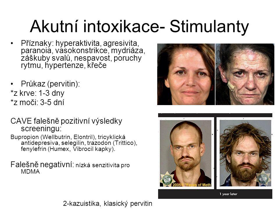 Akutní intoxikace- Stimulanty