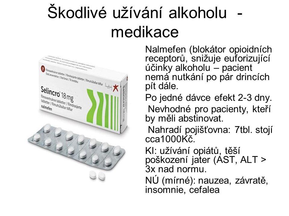 Škodlivé užívání alkoholu - medikace
