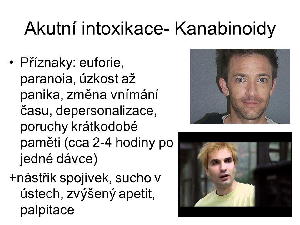 Akutní intoxikace- Kanabinoidy