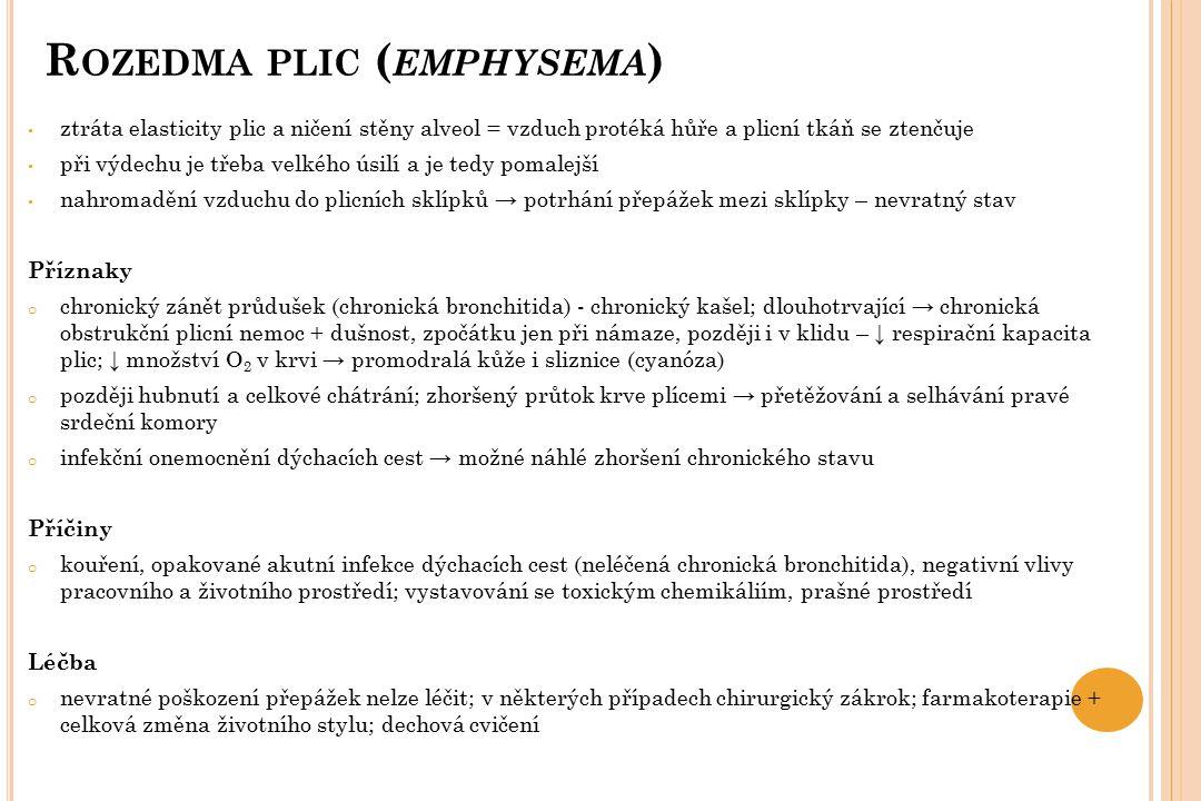 Rozedma plic (emphysema)