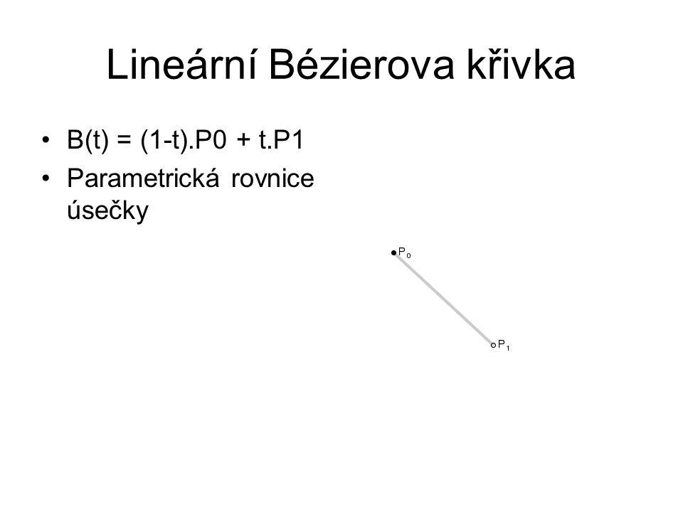 Lineární Bézierova křivka
