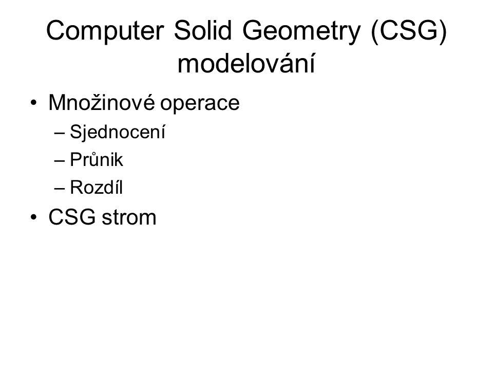 Computer Solid Geometry (CSG) modelování