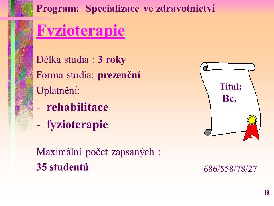 Fyzioterapie rehabilitace fyzioterapie
