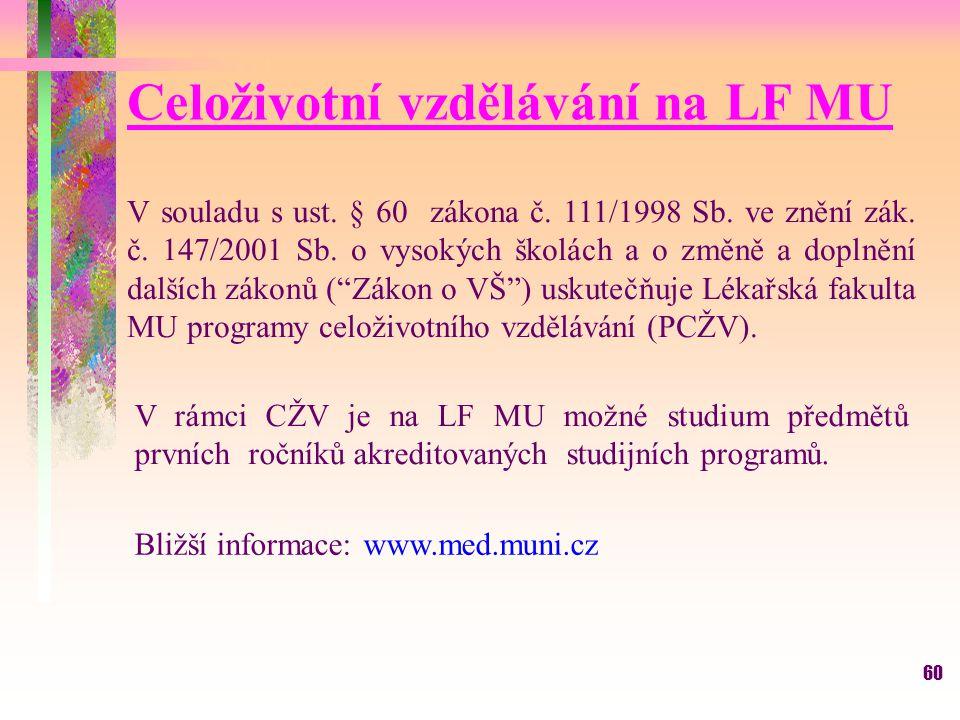 Celoživotní vzdělávání na LF MU
