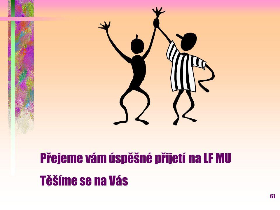 Přejeme vám úspěšné přijetí na LF MU