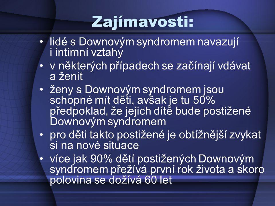 Zajímavosti: lidé s Downovým syndromem navazují i intimní vztahy