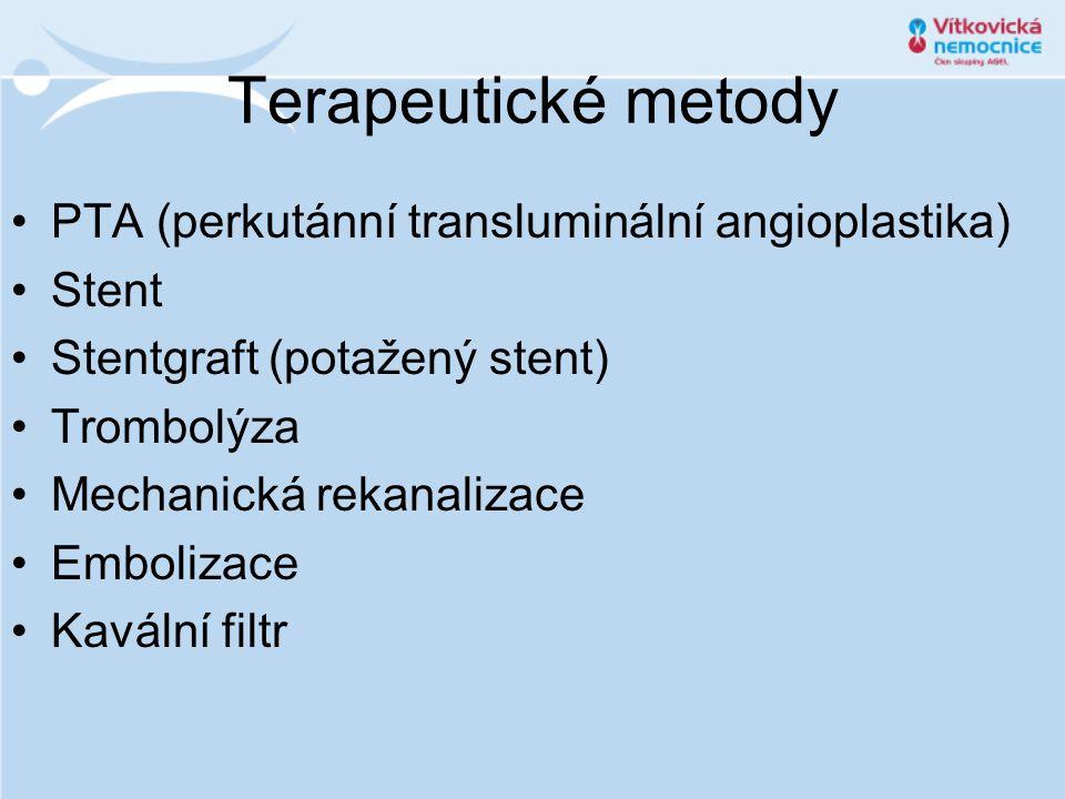 Terapeutické metody PTA (perkutánní transluminální angioplastika)