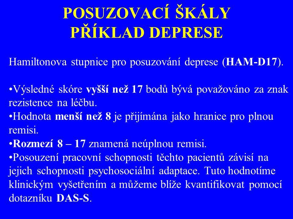 POSUZOVACÍ ŠKÁLY PŘÍKLAD DEPRESE