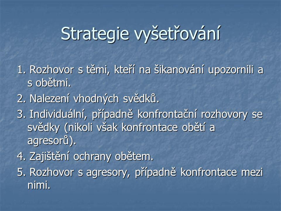 Strategie vyšetřování