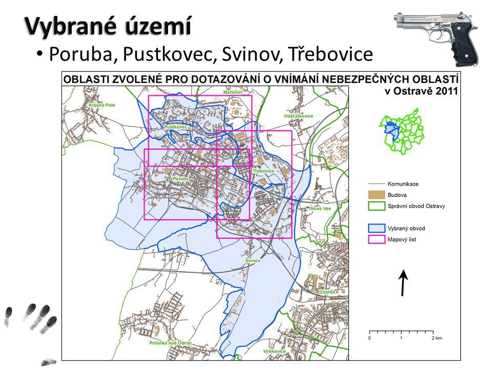 Vybrané území Poruba, Pustkovec, Svinov, Třebovice