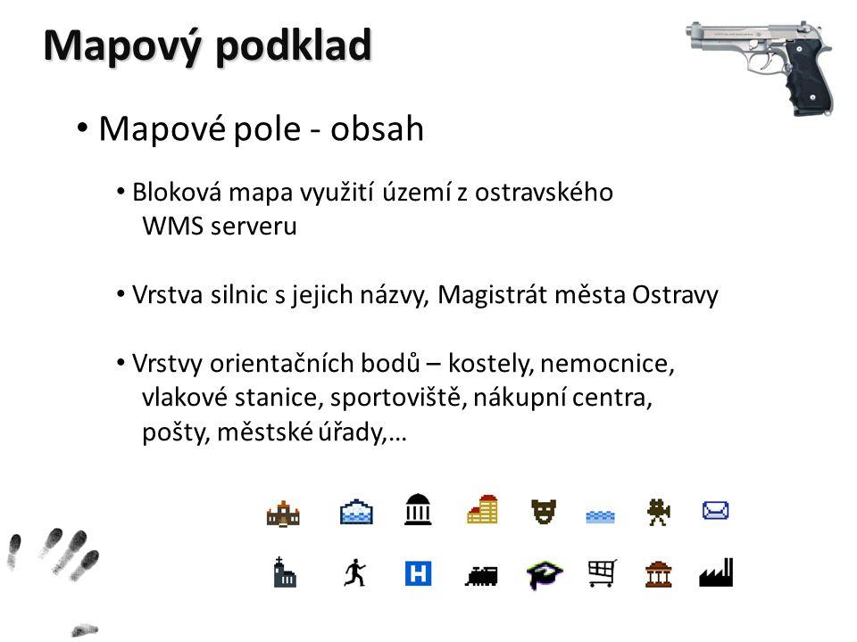 Mapový podklad Mapové pole - obsah