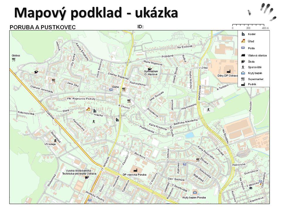 Mapový podklad - ukázka