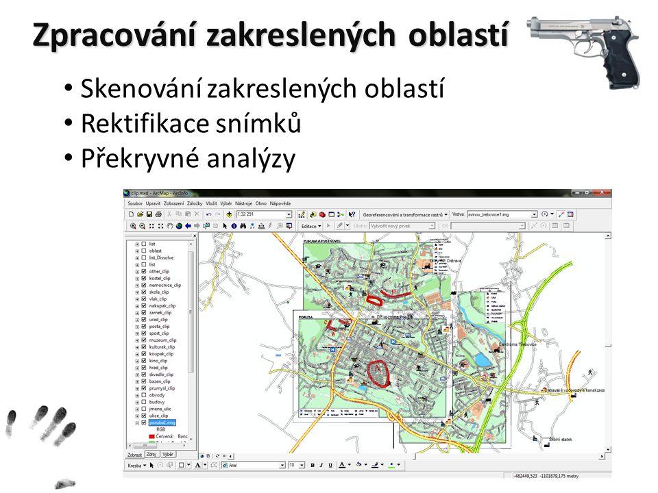 Zpracování zakreslených oblastí