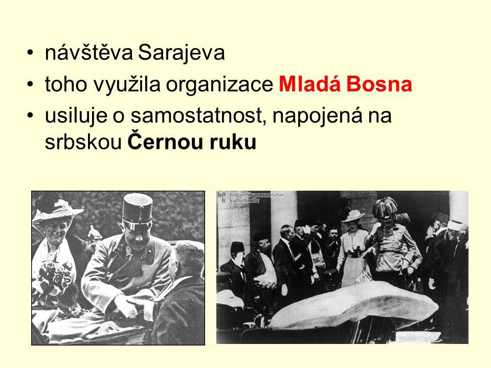 návštěva Sarajeva toho využila organizace Mladá Bosna.