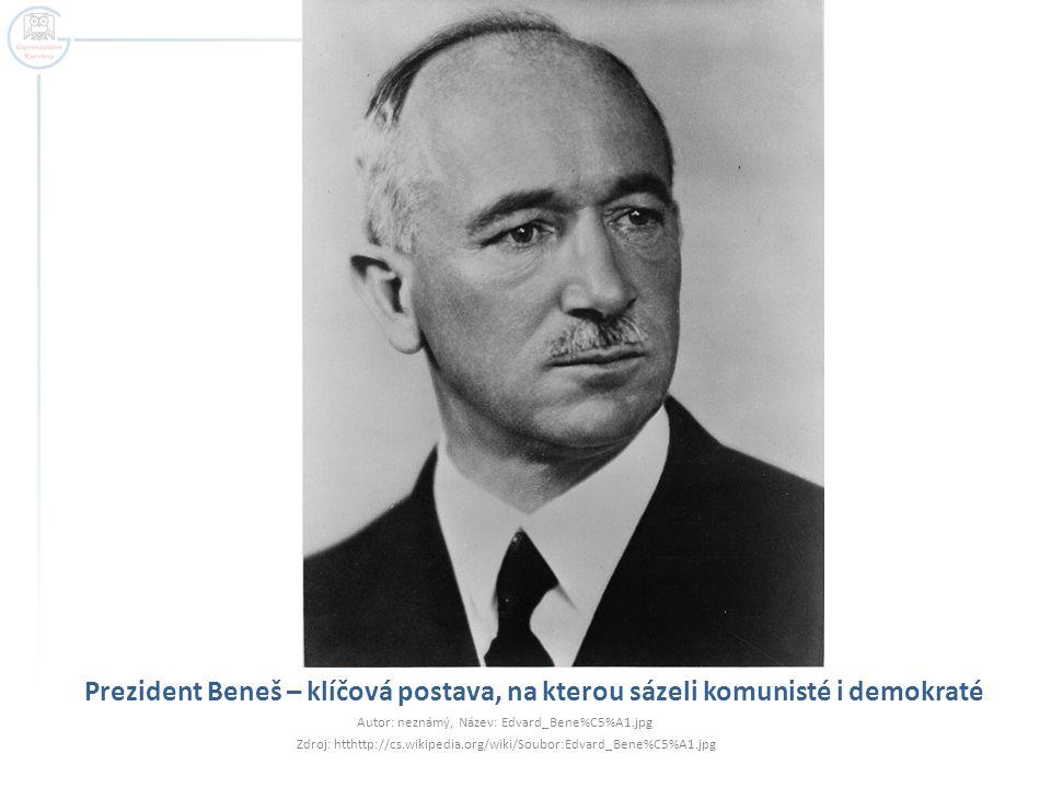 Prezident Beneš – klíčová postava, na kterou sázeli komunisté i demokraté