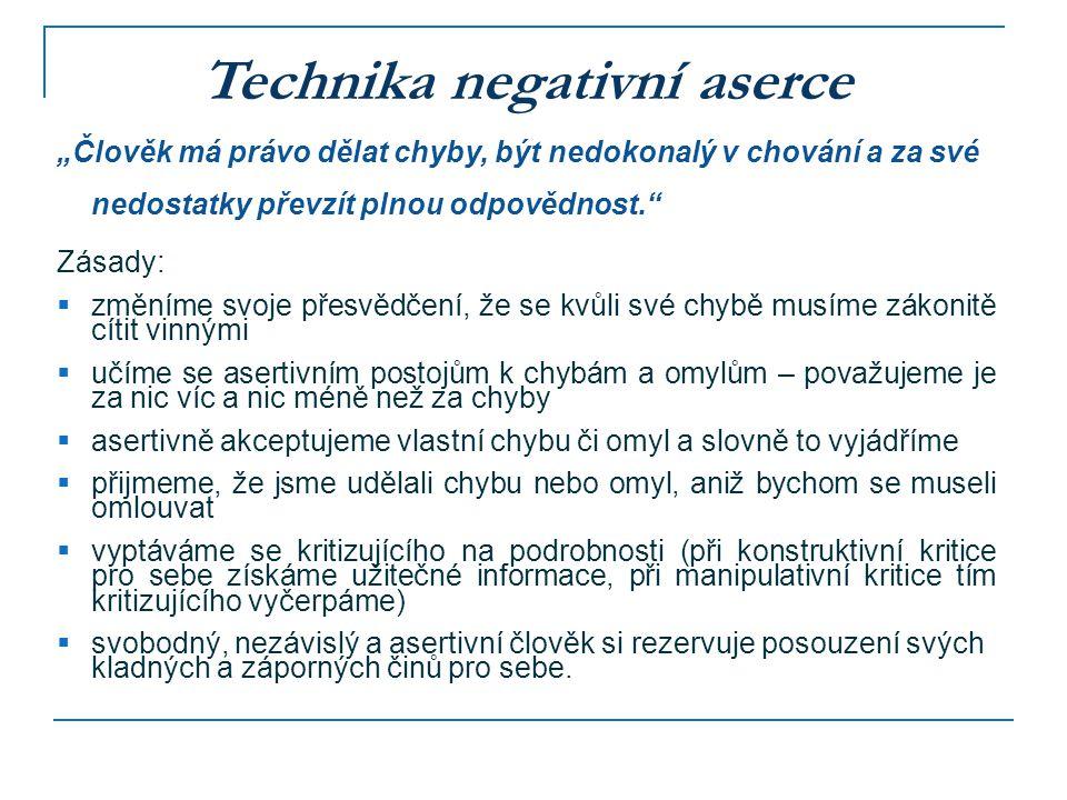 Technika negativní aserce