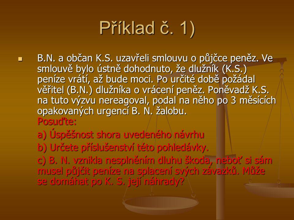 Příklad č. 1)