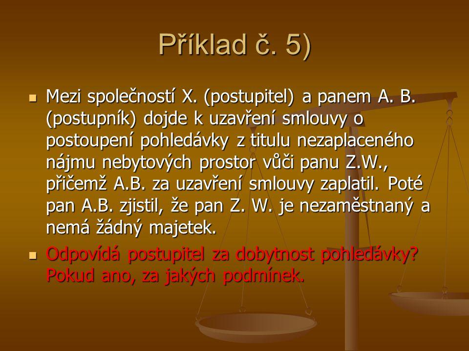 Příklad č. 5)