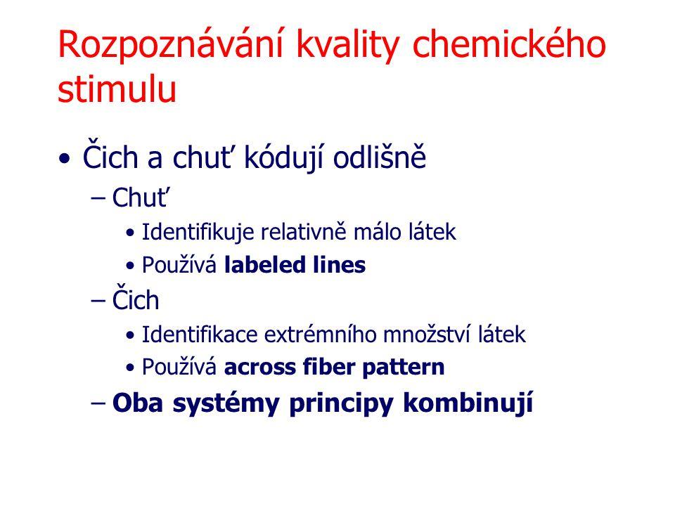 Rozpoznávání kvality chemického stimulu