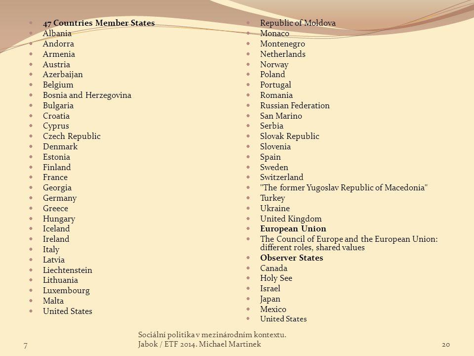 47 Countries Member States Albania Andorra Armenia Austria Azerbaijan