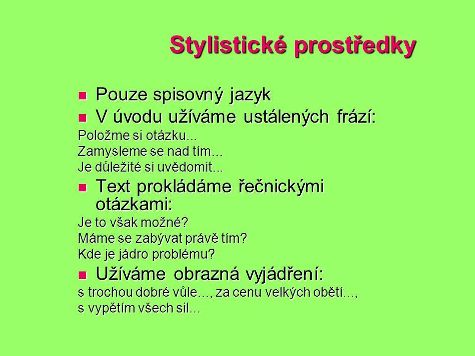 Stylistické prostředky