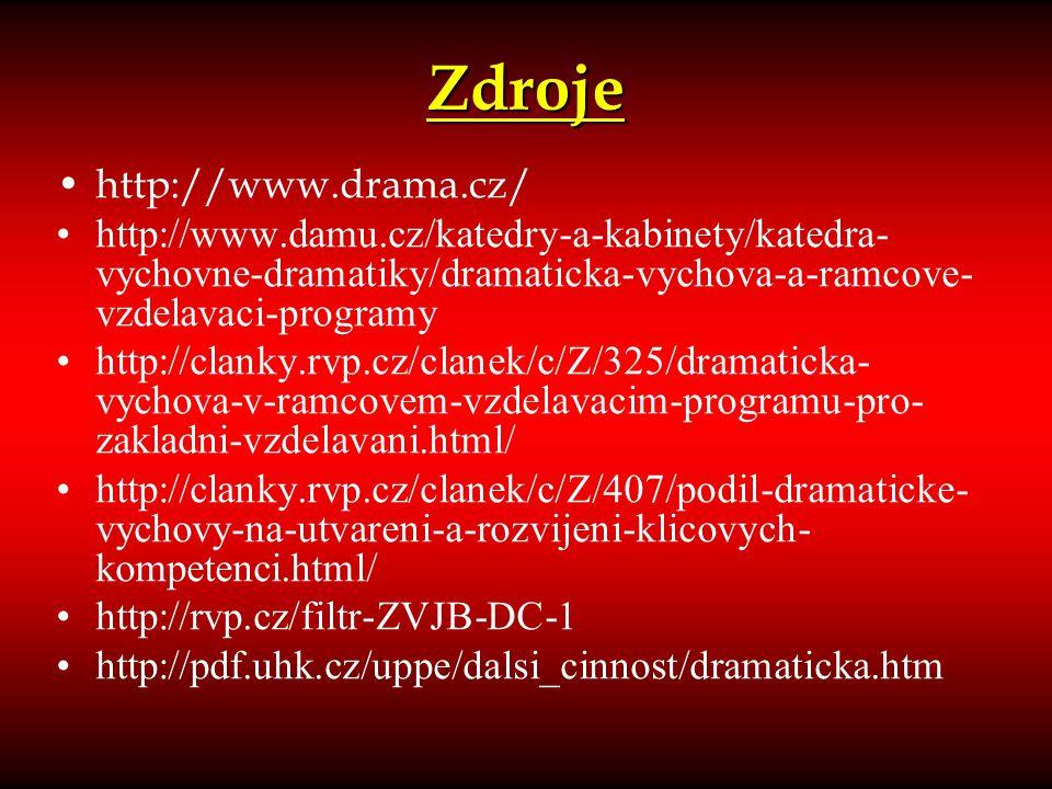 Zdroje http://www.drama.cz/