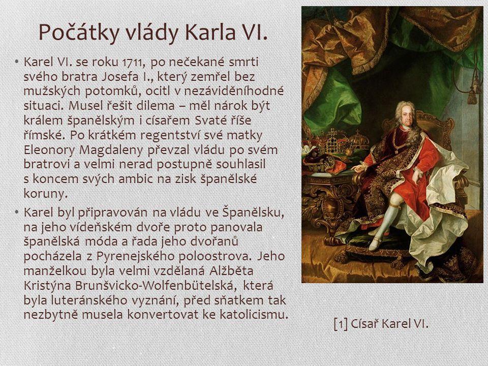 Počátky vlády Karla VI.