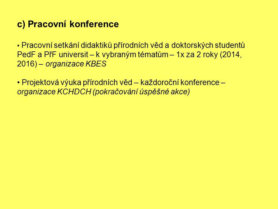 c) Pracovní konference