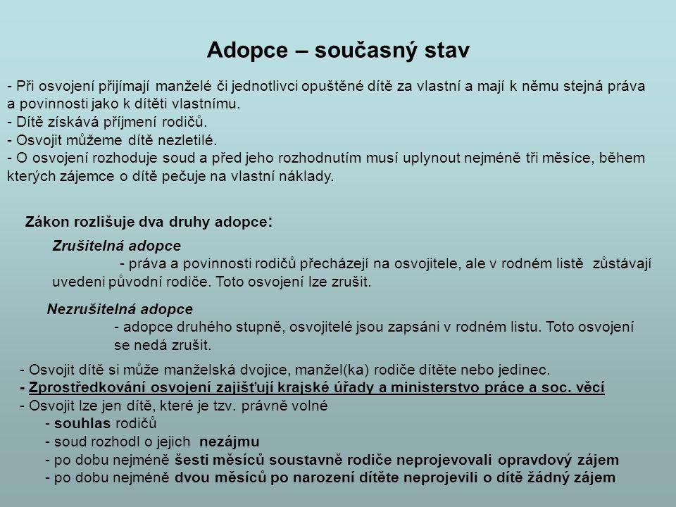 Adopce – současný stav