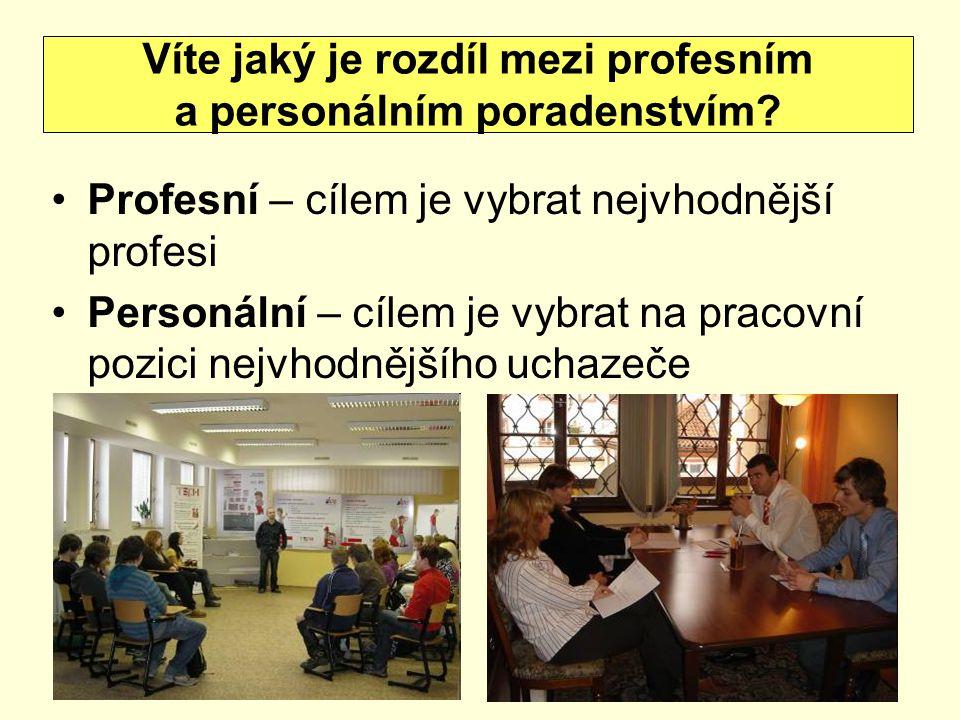 Víte jaký je rozdíl mezi profesním a personálním poradenstvím