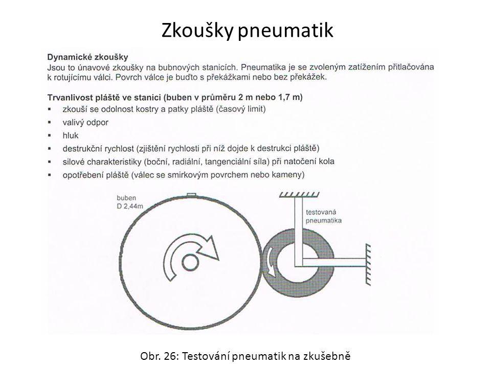 Zkoušky pneumatik Obr. 26: Testování pneumatik na zkušebně
