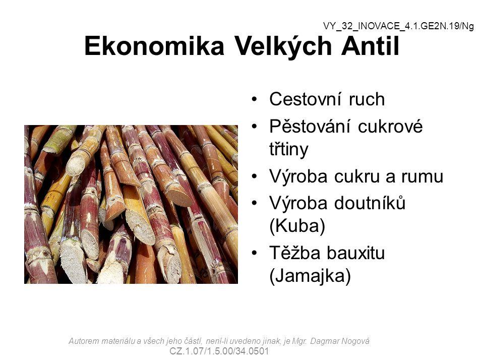 Ekonomika Velkých Antil